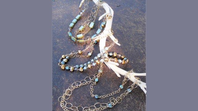 Close up at Stefanie Wolf Designs, Oak Bluffs