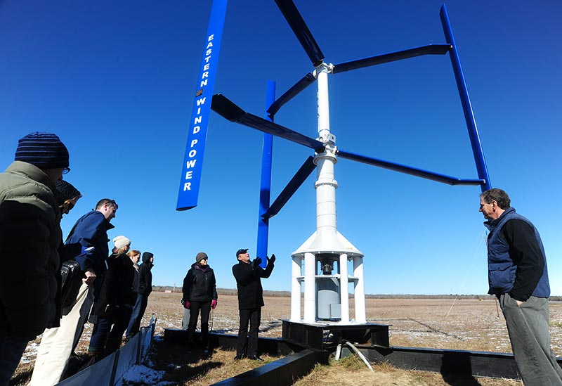 Vertical axis wind turbine passes R&D test here - The