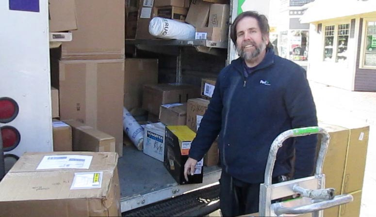 the times follows fedex delivery man on one of his busiest days the martha 39 s vineyard times. Black Bedroom Furniture Sets. Home Design Ideas