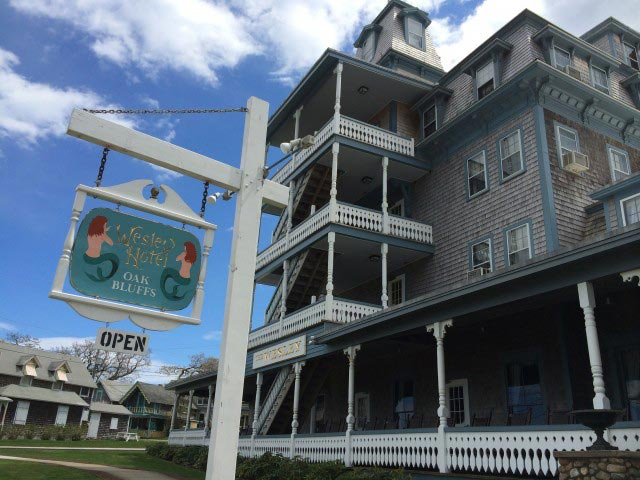 The Wesley Hotel Overlooks Oak Bluffs