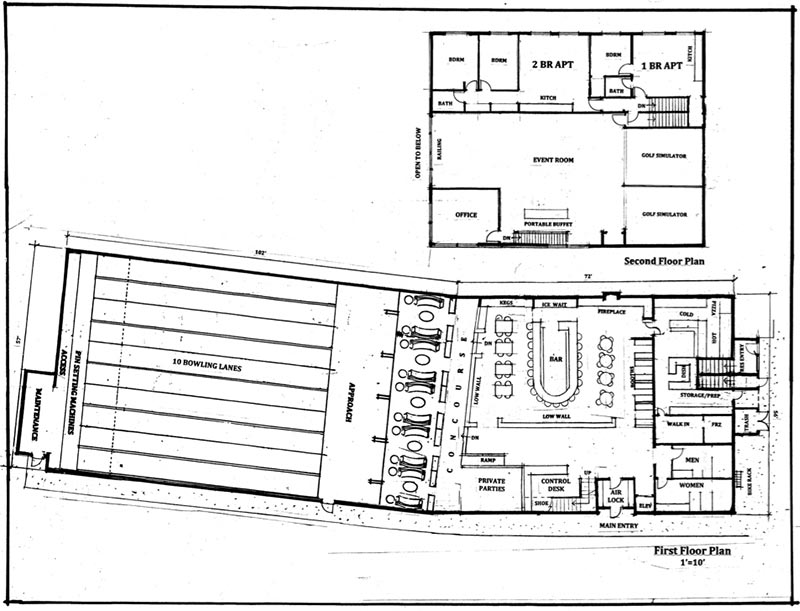 Oak bluffs board approves bowling alley plan the martha for House plans with bowling alley