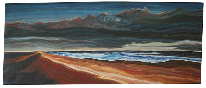 A landscape painting of Lucy Vincent Beach, by Geoff Pease.