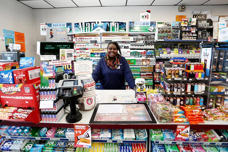 Nikisha Ferguson, Xtra Mart. —Photo by Michael Cummo
