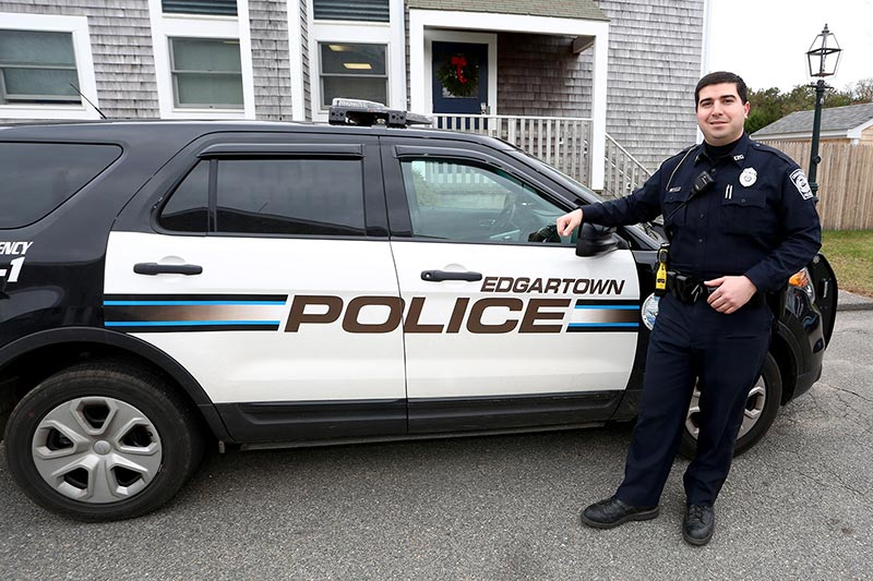 Will Bishop, Edgartown Police Department. —Photo by Michael Cummo