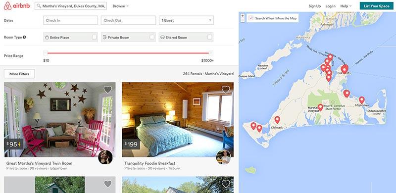 airbnb lands on martha 39 s vineyard. Black Bedroom Furniture Sets. Home Design Ideas