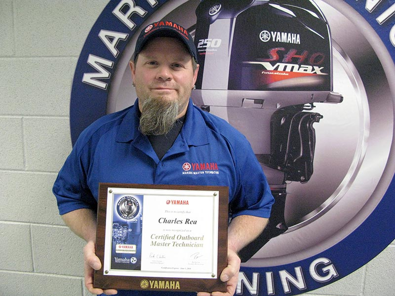 charles rae is yamaha certified master technician the