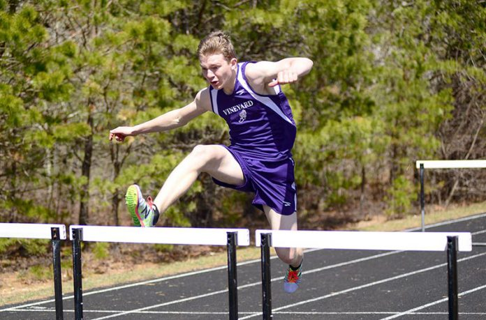 vineyard boys tie  girls defeated in track and field meet