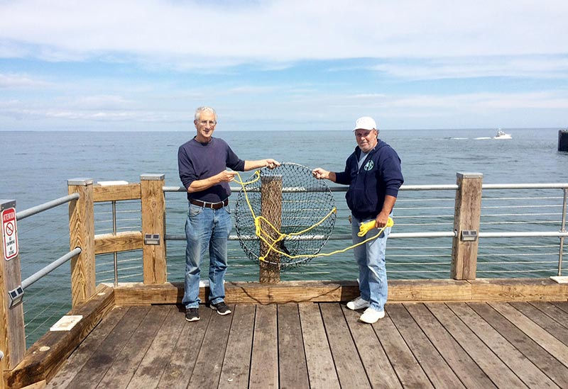 oak bluffs pier fishermen get a helpful tool the martha