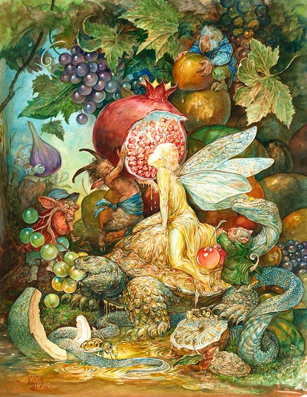 Illustrator Omar Rayyan Visits The Goblin Market In New Book The