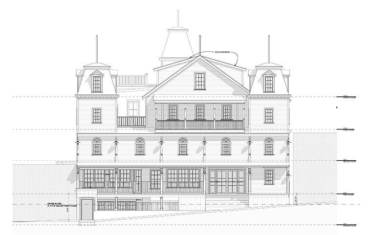 Front Elevation Rendering : Workforce housing hits a wall in oak bluffs the martha s