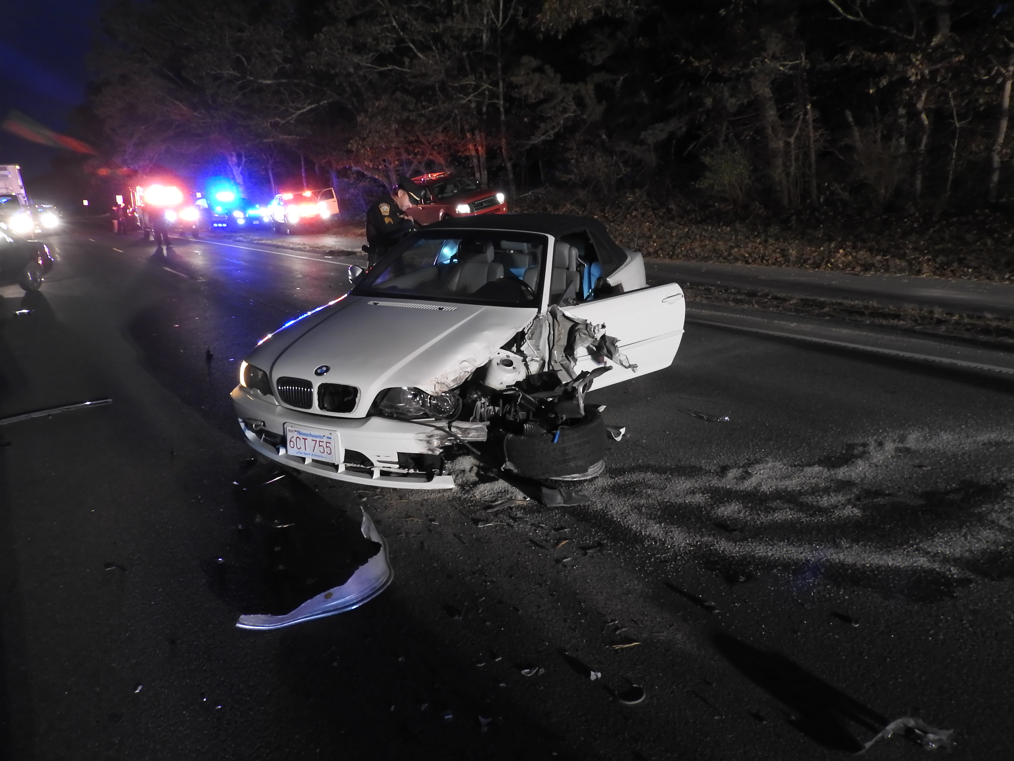 head-on collision leaves one person injured - the martha's vineyard