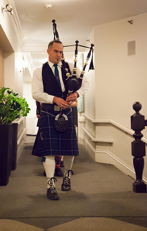 The halls were alive with the sound of bagpipes - The