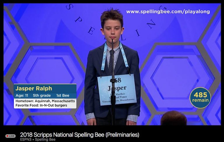 Island Spelling Bee champ tripped up in third round