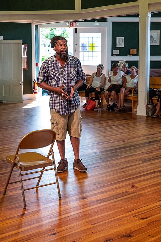 e1e1e71a24a Spoken word artist Christopher Johnson shared vivid stories about life with  his daughters. —Dena Porter