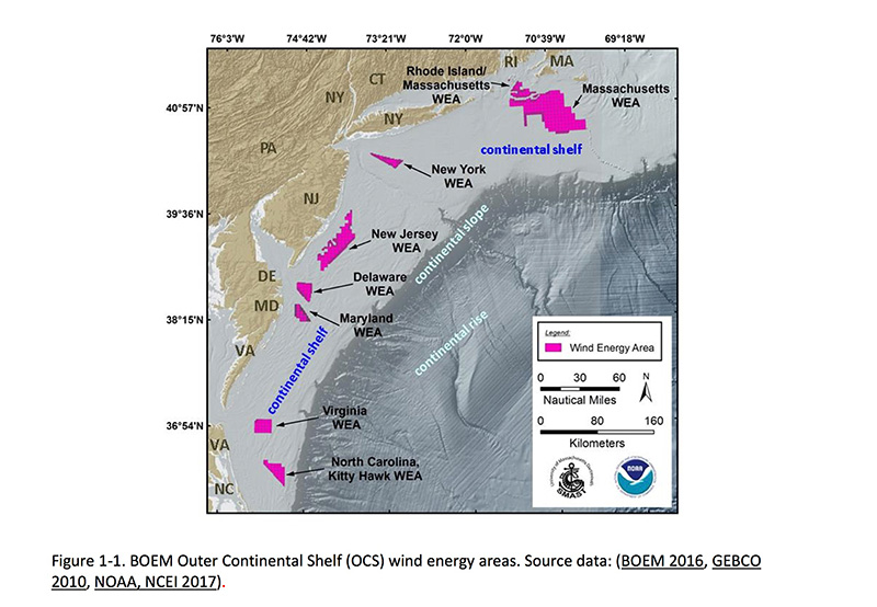 Noaa Drafts Habitat Maps For Wind Lease Zones The Martha S