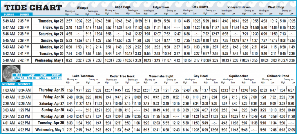 This Week S Tide Chart