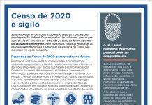Censo de 2020 e sigilo, page 1.