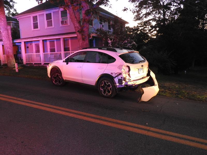 vehicle damaged.